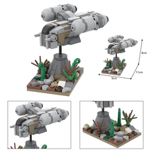 Star Movie Micro Razor Crest Warship Scene Mini Model Building Blocks DIY Spaceship Bricks Toys Collection Decor Kids Gifts