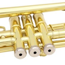 лучшая цена Trumpet Bb B Flat Durable Brass Trumpet with a Silver-plated Mouthpiece