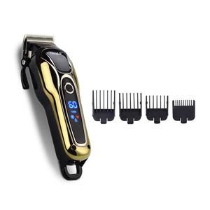 Image 5 - มัลติฟังก์ชั่LCD Hair Clipper Trimmerเคราไฟฟ้าเคราClipperตัดผมTrimerเครื่องตัดQuick Charge