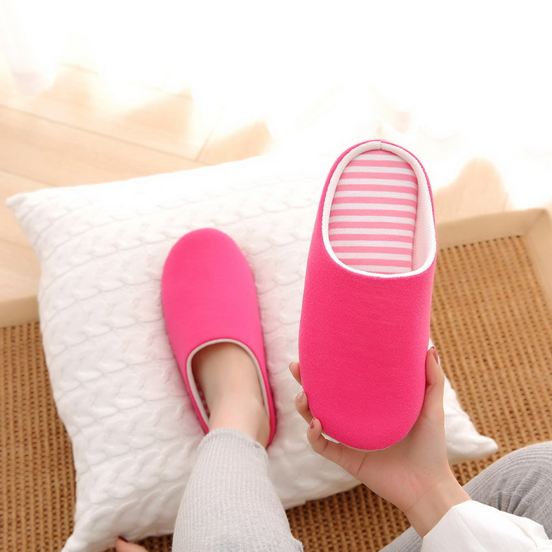 Casual Slippers Unisex Slip On Stripe House Slippers Fluffy Fur Home Slippers Soft Warm Slippers Warm House Non-slip Shoes