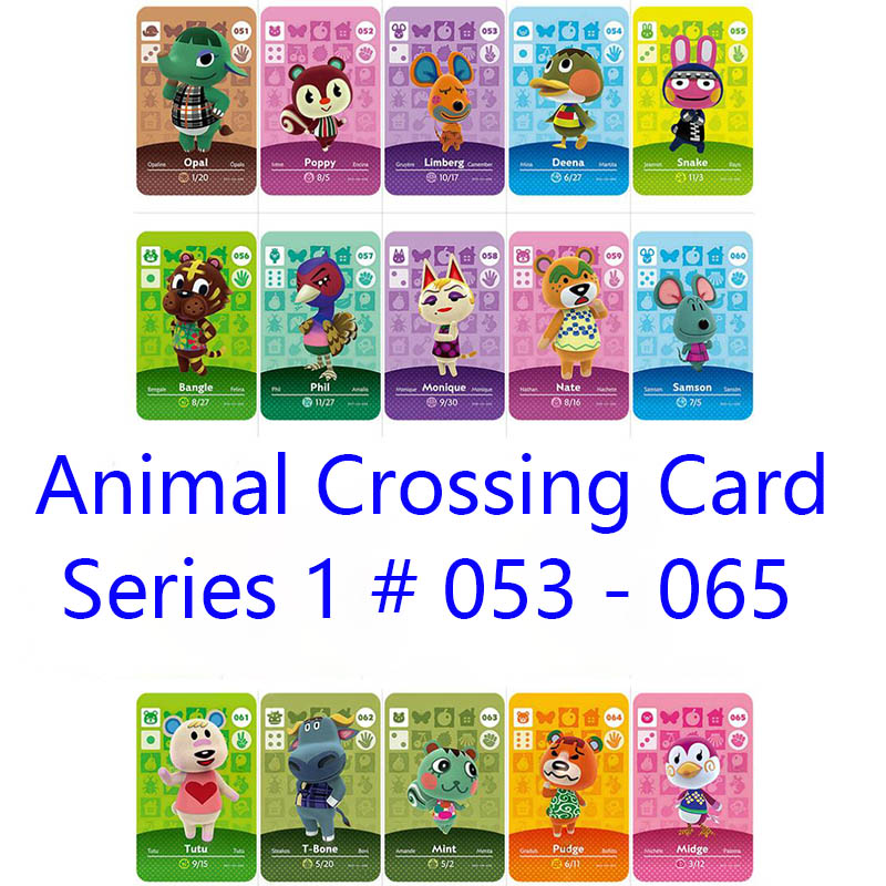 Series 1 #53-65 Animal Crossing Cards Amiibo Card Work For NS Games Series 1 Dropshipping Support Customized Card