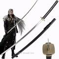 Длинные мечи 56-дюймовый меч sephiroth для тематической игры Finall Fantasy Japanese Katana Anime Blade с черным Сая декоративным