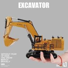 1:50 сплав экскаватор модель, высокая имитация инженерный экскаватор модель, 360 градусов вращающаяся игрушка