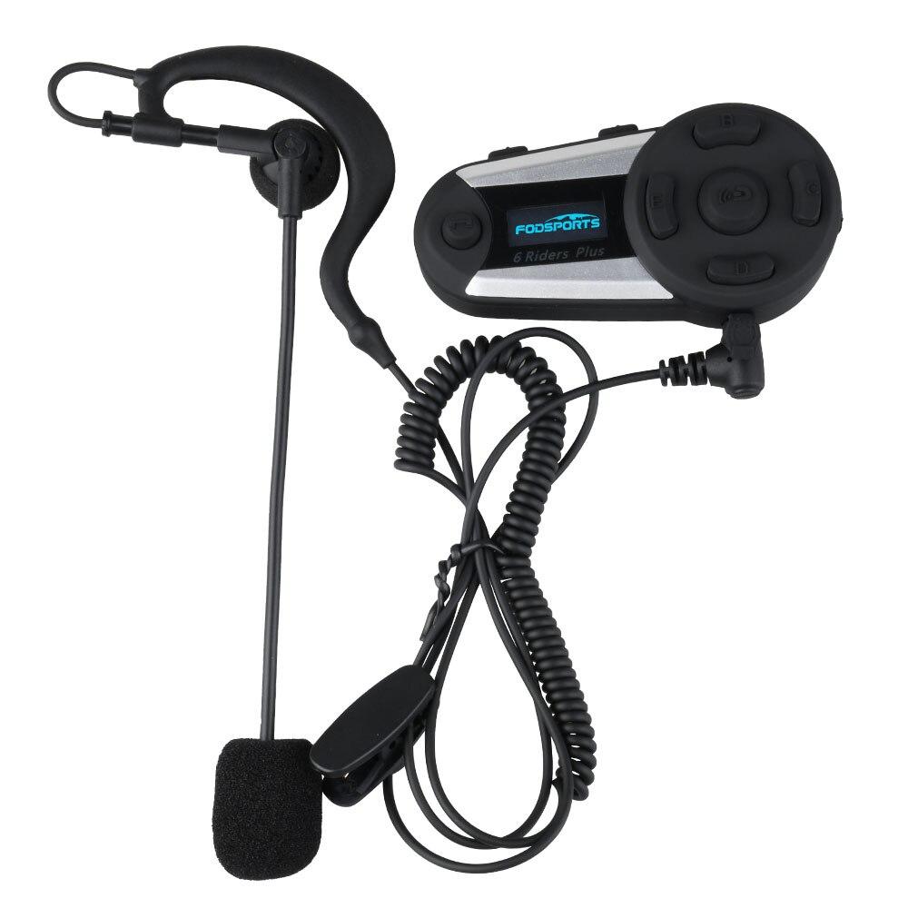 Fodsports V6 Plus Gruppe Intercom mit Ohrbügel-headset für Fußball Schiedsrichter Beurteilen Schiedsverfahren Schiedsrichter Fahrrad Einseitige Ohrhörer
