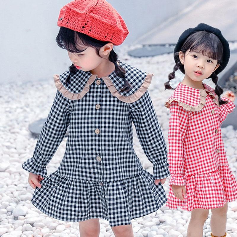 Back To School Clothing Baby Girls Dress Long Sleeve Toddler Girls Princess Dresses Cotton Children Shirt Girls Party Dress Kids