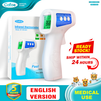 Cofoe  Forehead Thermometer Non Contact Infrared Thermometer Body Temperature Fever Digital Measure Tool for Baby Adult