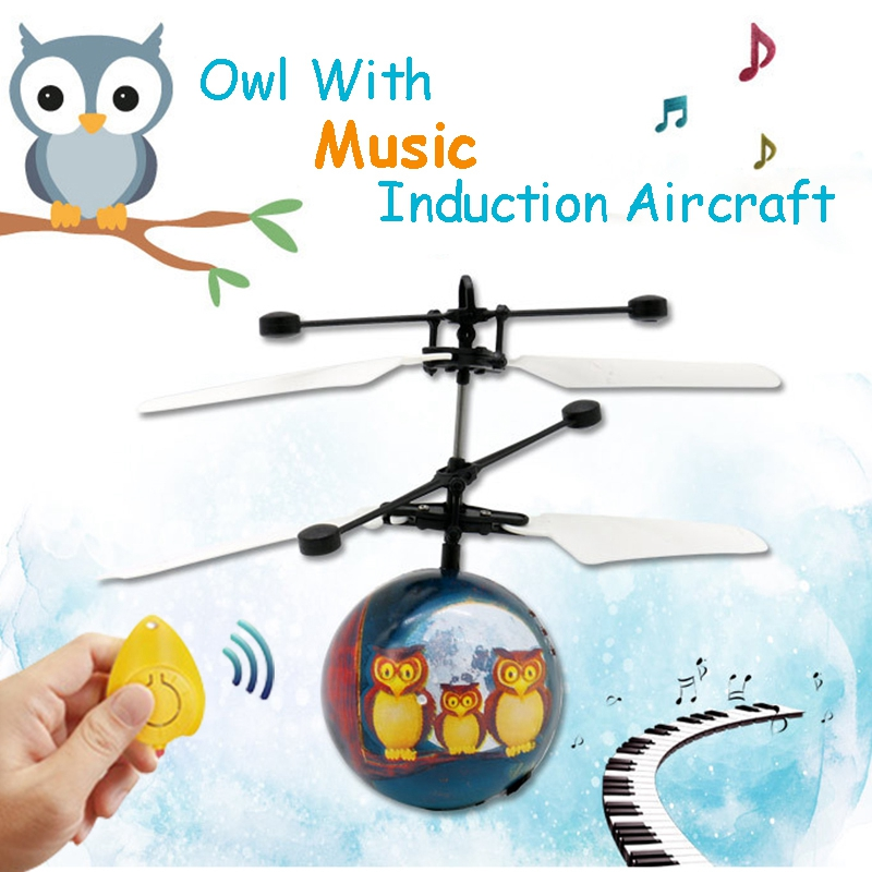Infrared Induction Drone Flying Flash LED Lighting Ball Helicopter Child Kid Toy Gesture-Sensing