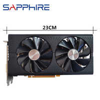 Original SAPPHIRE RX 580 4GB Video Card GPU AMD Radeon RX580 4GB 584 Graphics Cards Desktop PC Computer Game Map HDMI Not Mining