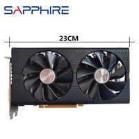 Original saphir RX 580 4GB carte vidéo GPU AMD Radeon RX580 4GB 584 cartes graphiques ordinateur de bureau ordinateur jeu carte HDMI pas d'exploitation
