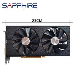 Safira original rx 580 4 gb placa de vídeo gpu amd radeon rx580 4 gb 584 placas gráficas desktop computador mapa do jogo hdmi não mineração