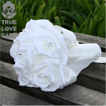 Rosa ramo de boda fiesta en casa accesorios novia dama de honor flores artificiales SPH151