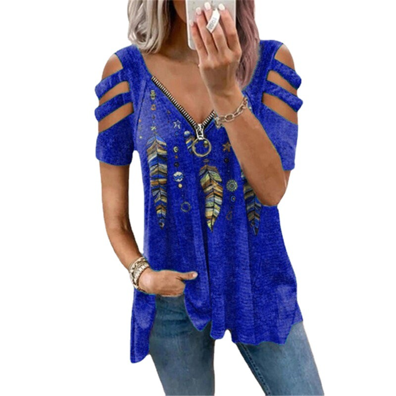 Women Women's Blouses Women's Clothings Color: Deep Blue Size: S Ships From: China