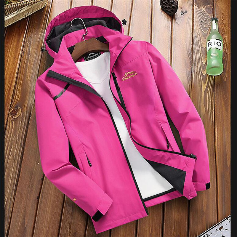 Haa8bd04a0d1f4165bf9abd63c55192b9X Women's Casual Waterproof Windproof Jacket Hooded Coat Spring Autumn Breathable Tourism Mountain Windbreaker Jackets Female