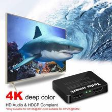 1x2 HDMI разветвитель 1 вход 2 выхода HDMI коммутатор 1x2 Двойной HDMI разветвитель 1to2 до 4K x 2 k@ 30Hz 3D для HDTV PS3 PS4 Blu-Ray плеер