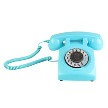 лучшая цена Retro Rotary Dial Home Phones, Old Fashioned Classic Corded Telephone Vintage Landline Phone for Home and Office