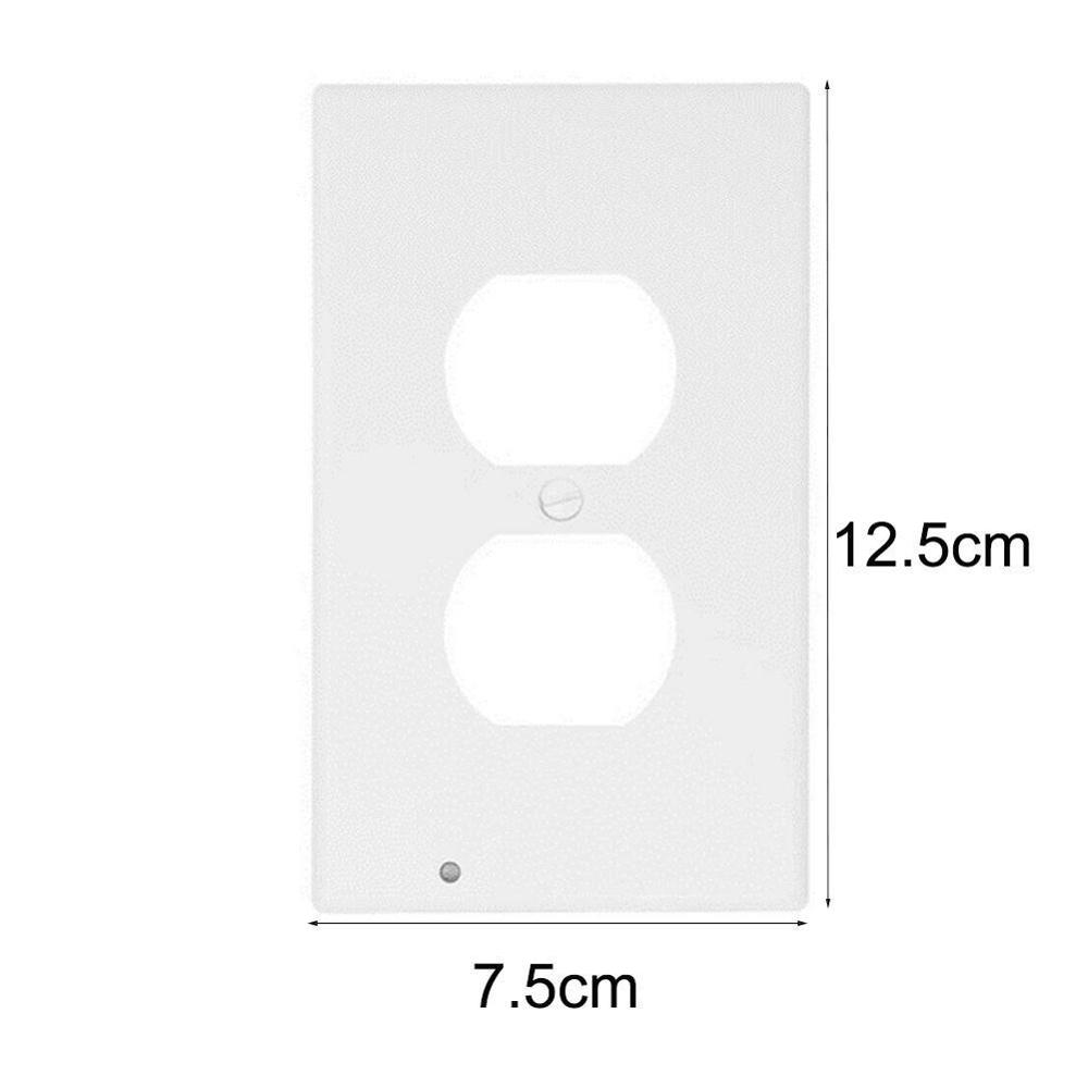 Hallway Emergency Lamp Outlet Cover Light Sensor Outlet Wall Plate With Led Night Lights Bedroom Bathroom Night Lamp