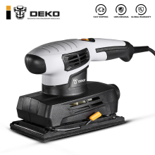 Шлифовальный станок DEKO с 15 листами наждачной бумаги и пыли, электроинструмент, электрический шлифовальный станок