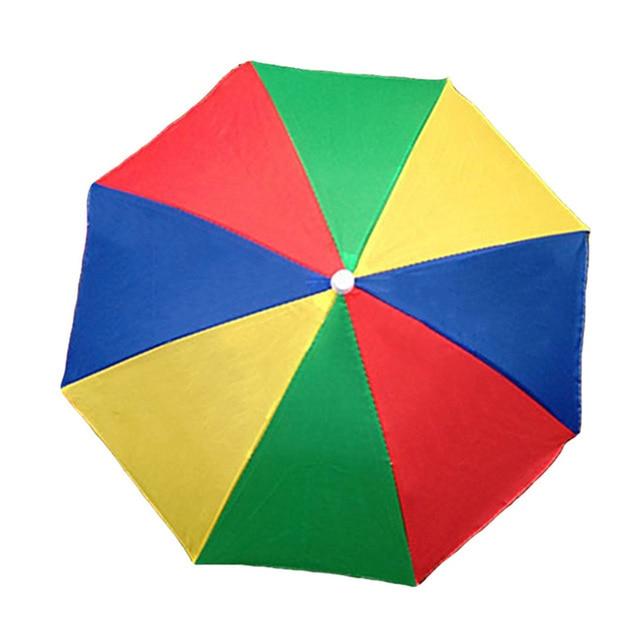 Portable Rain Umbrella Hat Army Green Foldable Outdoor Pesca Sun Shade Waterproof Camping Fishing Headwear Cap Beach Head Hats 4