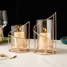 Nordic home decor living room wedding decoration accessories Glass Candlesticks for candle holders chandelier product for candle