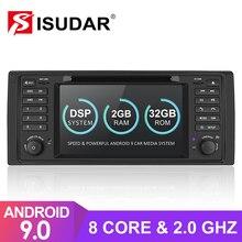 Isudar 1 Din Auto Radio Android 9 Voor BMW 5 Serie/E39 Auto Multimedia Navigatie Video GPS Octa Core ROM 32GB USB DVR Camera DSP