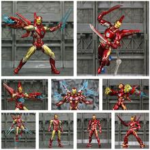 Marvel 6 Iron Man MK50 MK85 figurka Ironman Nano Mark 50 85 Tony Stark KOs SHF Avenger Endgame nieskończoność wojna zabawki lalki tanie tanio JAXTOY Model Żołnierz gotowy produkt Wyroby gotowe Unisex 6inch 1 12 Zachodnia animiation Remastered version 14 lat