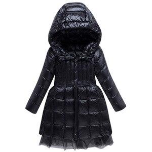 Image 2 - חם אופנה של הילדה למטה מעילים ארוך דגם ילדי אמיתי למטה מעיילי מעיל ילדי נער עבה למטה הלבשה עליונה עבור קר חורף