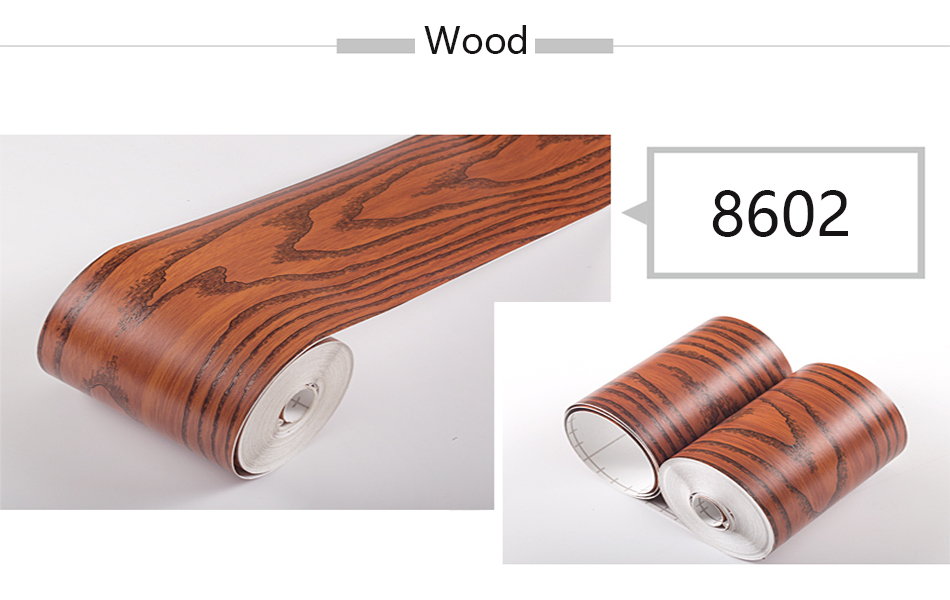 Wood Self Adhesive Window Decal Living Room Floor Border Skirting Contact Paper Waterproof Waist Line Wallpaper Home Improvement Haa8c5ef00a10490e8b830c53608eca23Z