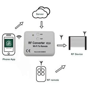 Image 4 - Interruptor WiFi con control remoto, 433MHz, 868MHz, convertidor de WiFi a RF, enchufe de múltiples Frecuencia con código, módulo de relé con interruptor remoto