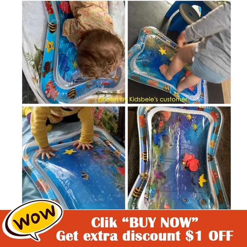 Colchoneta de agua para bebé, colchoneta de habilidades motoras