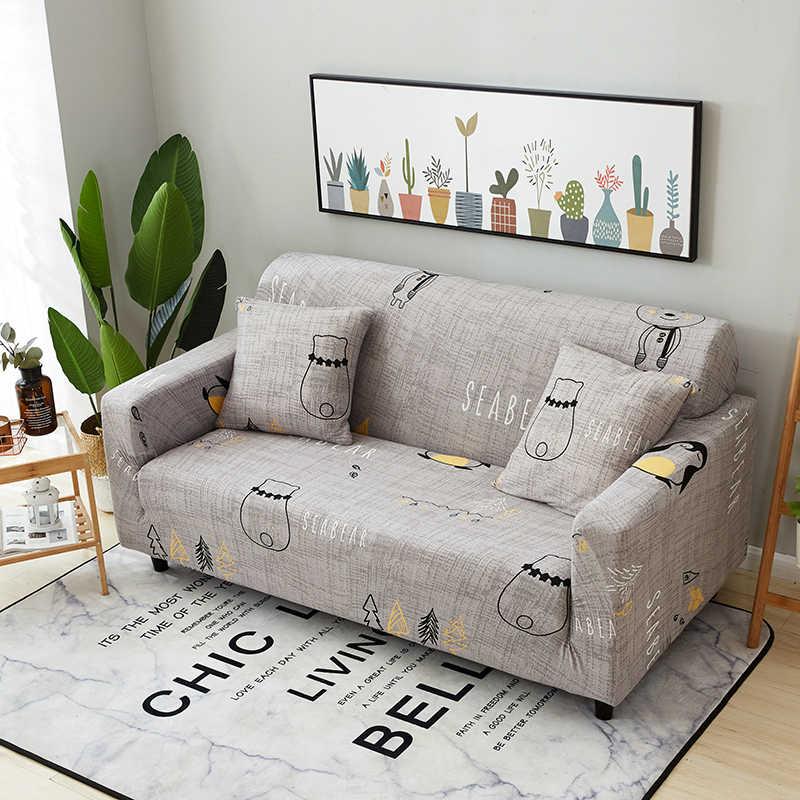 1 adet Spandex Modern kanepe kılıfı elastik çiçek Polyester 1/2/3/4 kişilik kanepe kanepe Slipcover oturma odası mobilya koruyucu