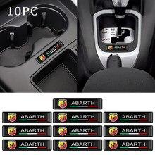 Calcomanía de coche con Logo decorativo, accesorios para Fiat abarth 500 500x ducato tipo panda bravo doblo stilo, 10 Uds.