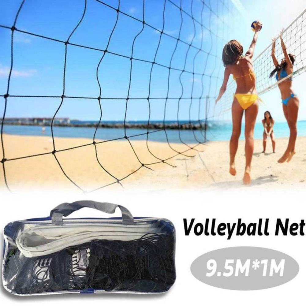 9.5x1m Portable Badminton Volleyball Net Indoor Or Outdoor For Beach Volleyball  Net Training Exercise