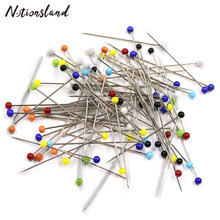 100pcs/Box Sewing Pins Ball Glass Head Patchwork Needle Craft Pins DIY Quilting Sewing Tool for Dressmaking Jewelry Decoration(China)