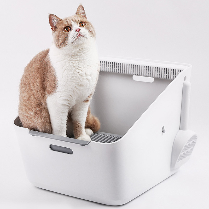 Inductive Inductive Net Smell Cat Toilet Detachable Multi-Effect Net Odor Inhibition Easy Cleanning Cat Bedpans #3