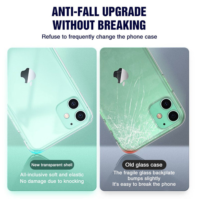 Silicone Case For iPhone 11 Pro X XR XS Max 4 5 6 7 8 Plus Cover Transparent Cases For iPhone SE 2020 11 XR Shockproof Case Soft 1