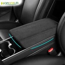 Pokrywa podłokietnika Alcantara dla modelu Tesla 3 2020 pokrywa konsoli środkowej pokrywa futerkowa pokrywa dla modelu y 2021 uchwyt wrap interior