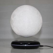 Новое изобретение, подарок, украшение для офисного стола, магнитная левитация, 8 дюймов, луна, глобус, черная основа, плавающий ночной Светильник