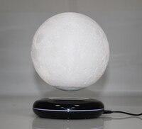 New invention gift Office Desk Decoration Magnetic Levitation 8 inch moon Globe black base Floating Night Light