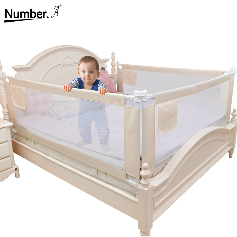 Baby Playpen Safety Playground On Bed Barrier Fence Guardrail Bed Rail Foldable Children Home Protection Crib Fence Lifting Rail