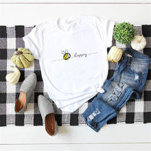Женская уличная одежда 100% хлопок футболка с круглым вырезом