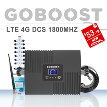 LTE 4G DCS 1800MHZ Cellular Signal Booster LCD Display 4G Repeater For Mobile phone Signal Amplifier GSM 2G Yagi+Whip Antenna # printio всё peace data