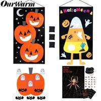 OurWarm Хэллоуин Вечерние игры висящая Тыква мешок бобов Toss игра Развивающие игрушки для детей подарок домашние игры Хэллоуин реквизит