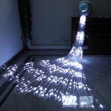 1 комплект 3X3 м 320 светодиодный Водопад занавеска Сосулька Светодиодный струнный свет метеоритный дождь сказочная Гирлянда Свадебный фон свет