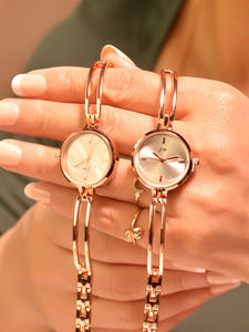 Ladies Wristwatches Chain-Clock Women Bracelet Stainless-Steel Female Small Fashion Simple