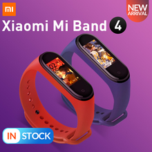 In Stock Original Xiaomi Mi 4 สีสมาร์ทสร้อยข้อมือ Heart Rate Fitness 135mAh Bluetooth 5.0 50M ว่ายน้ำกันน้ำ
