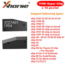 Original Xhorse VVDI VVDI Super Chip XT27A01 XT27A66 Transponder para VVDI2 Mini Ferramenta Chave 10 pçs/lote