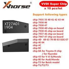 Oryginalny Xhorse VVDI Super Chip XT27A01 XT27A66 Transponder do VVDI2 VVDI Mini klucz narzędzie 10 sztuk/partia