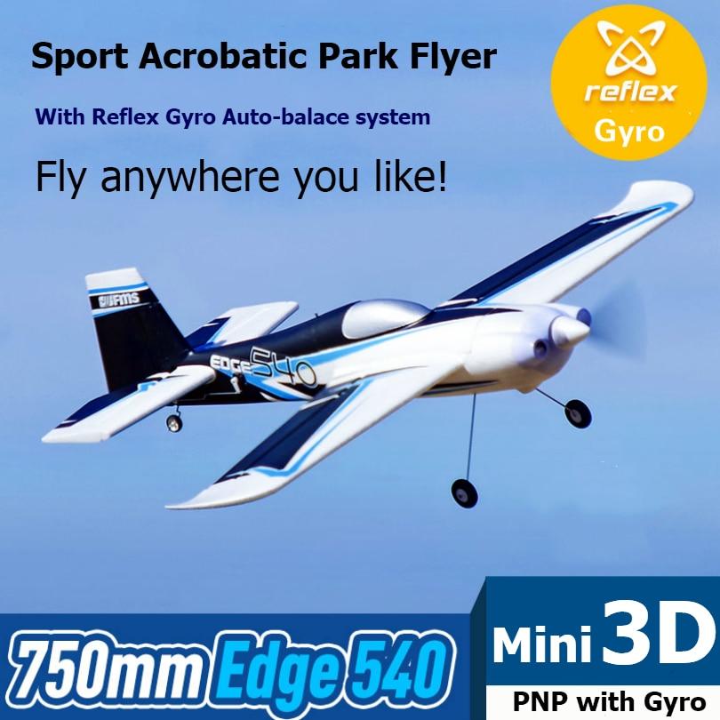 FMS RC avion avion 750mm bord 540 parc Flyer 3D Sport acrobatique intérieur avec réflexe Gyro Auto Balance PNP modèle avion de loisirs