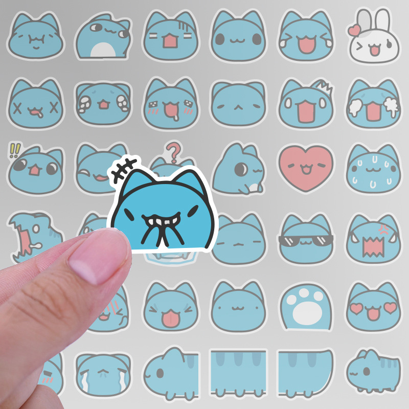 40Pcs Bullet Journal Stickers Cute Things Bugcat Capoo Stickers Girl Stationery Stickers On Laptop Pad Phone Fridge Sticker LD