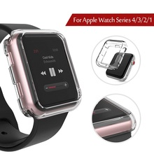 Watch Cover for Apple Watch Case 42mm 38mm Series 3 2 1 Soft TPU Clear Screen Protector for iWatch Series 4 5 40MM 44MM ashei watch cover for apple watch 3 case 42mm 38mm series 3 2 1 soft slim tpu all around ultra thin screen protector for iwatch